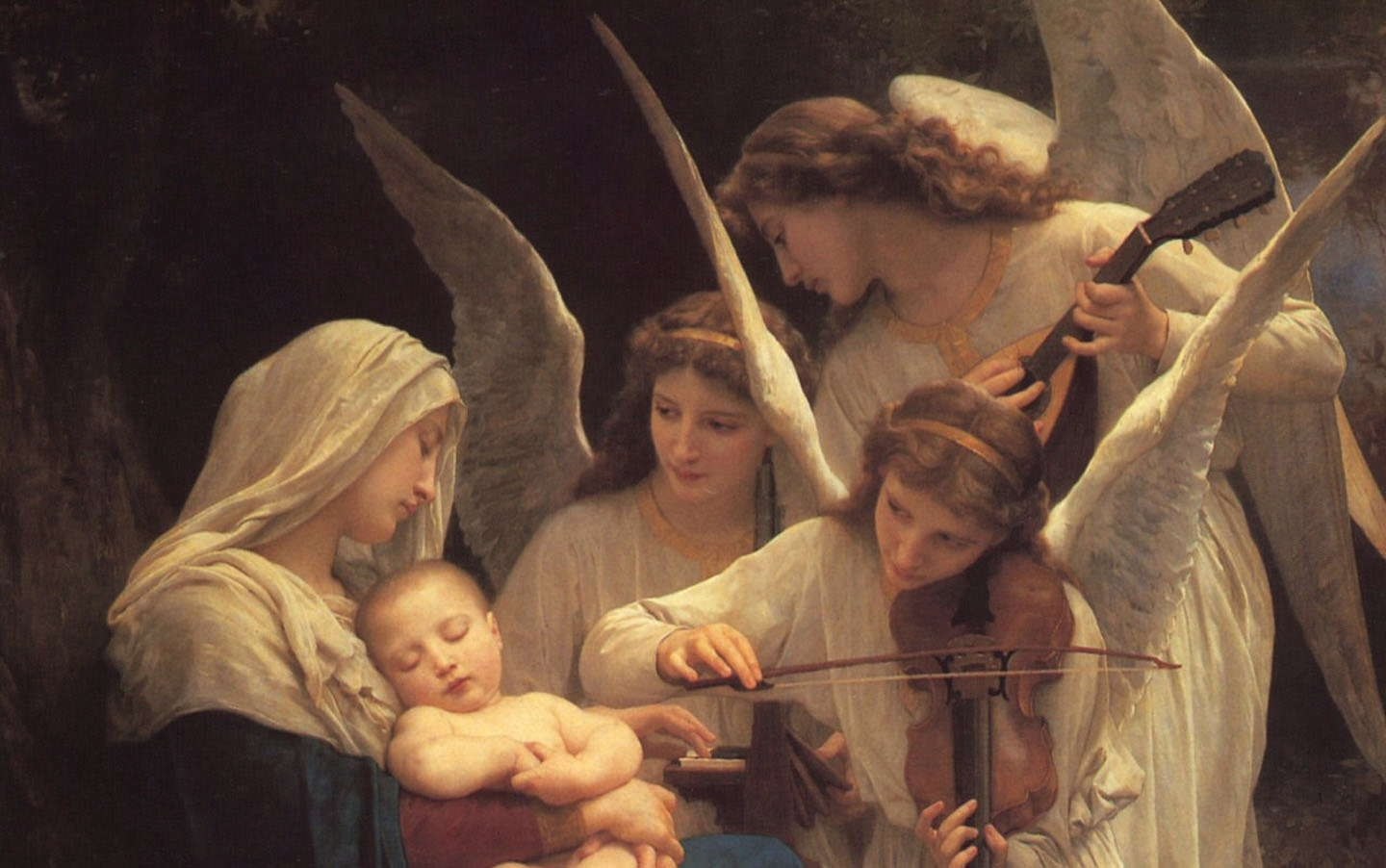 angels_paintings_william_adolphe_bouguereau_song_realistic_1440x902_wallpaper_Wallpaper_1440x902_www.wallpaperswa.com